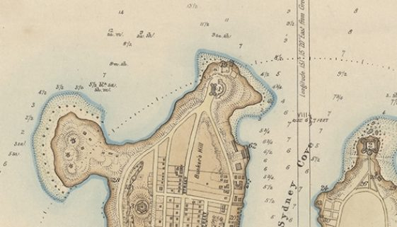 plan of the town and suburbs of sydney aug 1822 DoS NLA MAP F 107 CROP