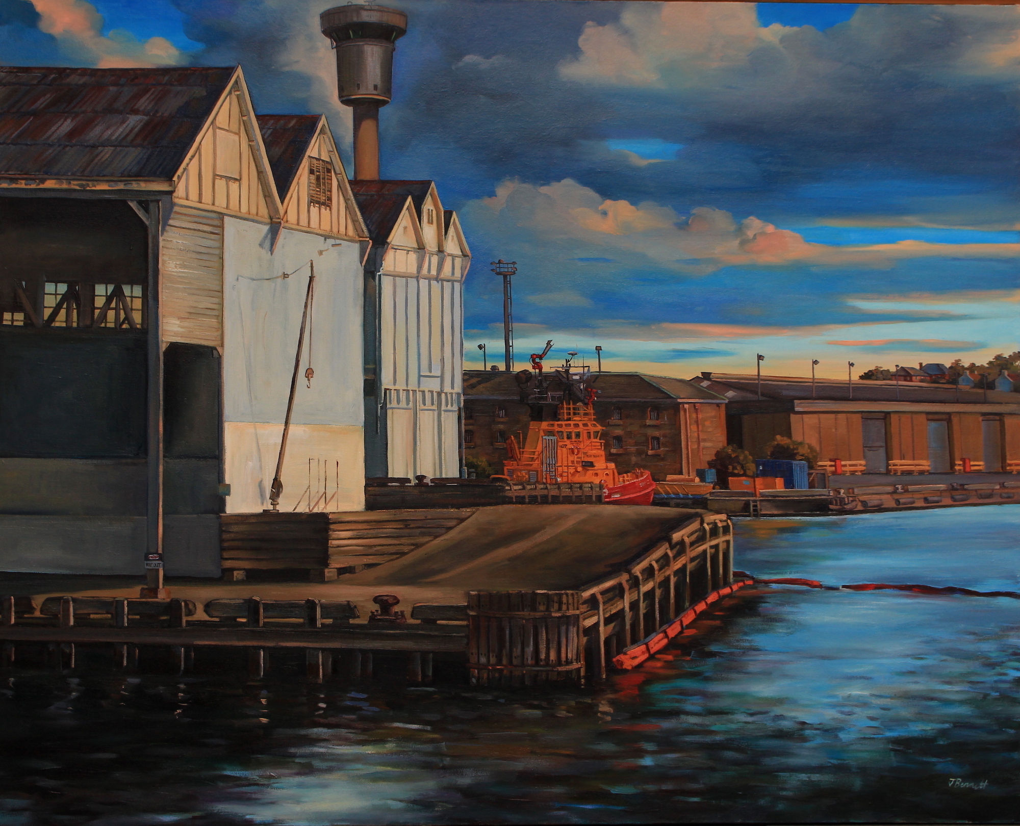 Paintings of a passing port