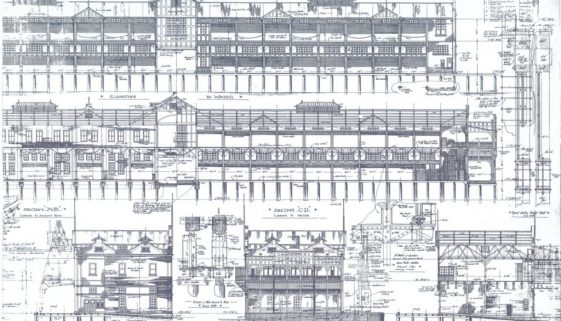 NO. 1 WHARF BUILDINGS DAWES TO MILLERS POINT - ELEVATIONS AND SECTIONS B copy