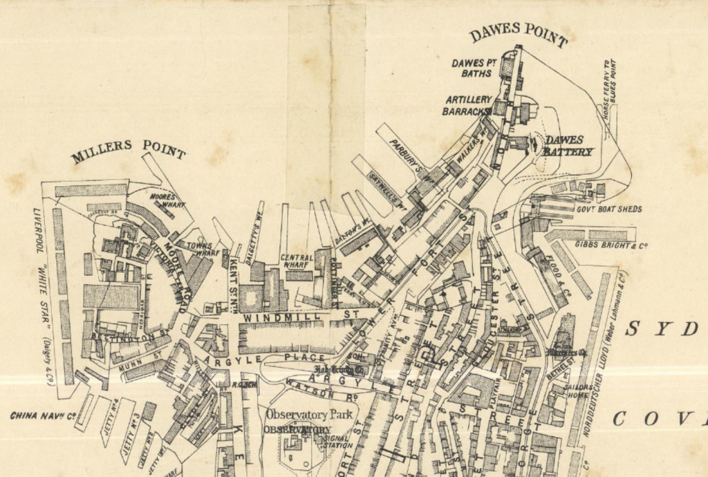 City of Sydney map of the Walsh Bay area, published 1903.